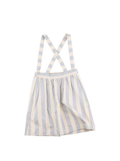 tinycottons SS18 Prúžkovaná sukňa s trakmi